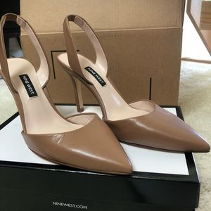 Nine West Meredith, Size 8.5, Tan Leather